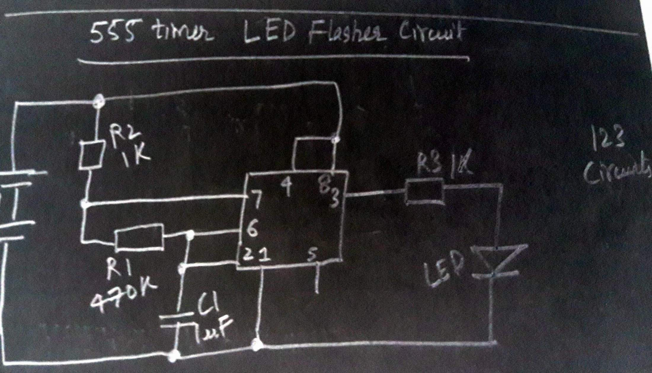 Electronics Tutorial Circuits Schematics Electronix The Alternating Led Flasher Circuit With A 555 Ic More Tutorials