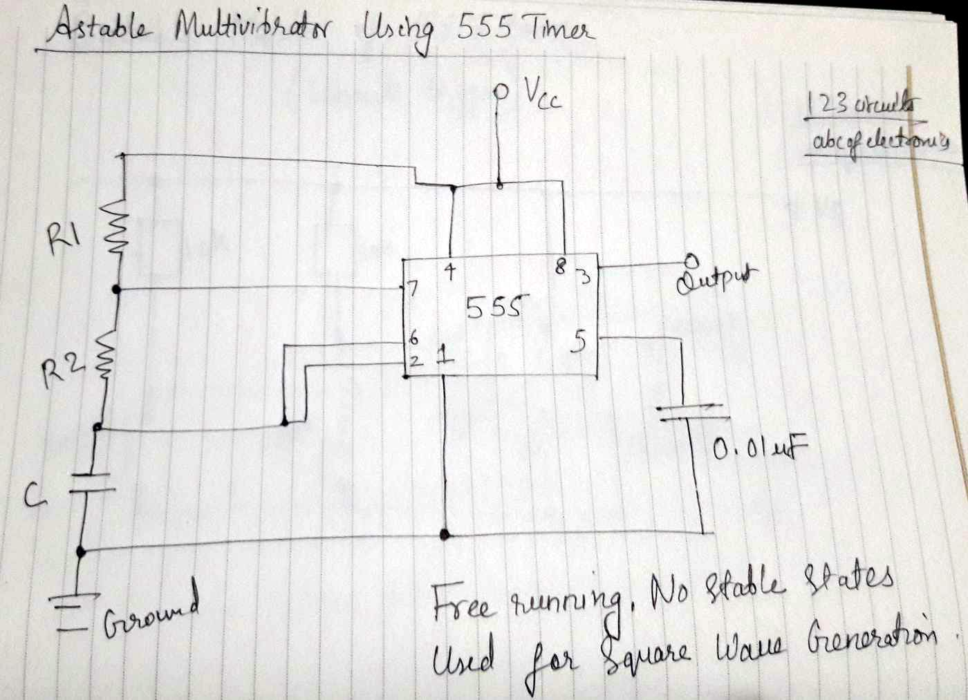 Astable555timercircuit